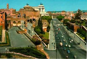 Postal De Roma, La Via Del Imperio 70´s Vintage