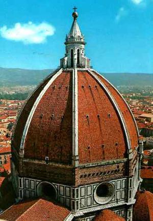 Postal Duomo Cupula Catedral Florencia Italia, Vintage 70´s