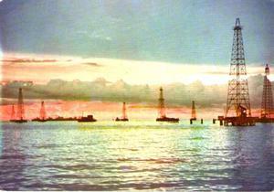 Postal Lago De Maracaibo Venezuela Torres Petroleras