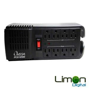 Regulador De Voltaje Protector 8 Tomas 110 Pc Tv Neveras