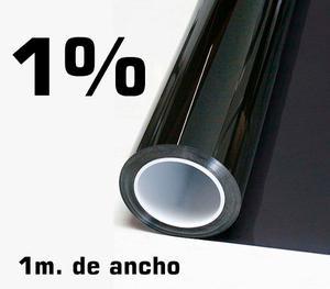 Papel Ahumado Negro 1% Antirayas, De Un Metro De Ancho