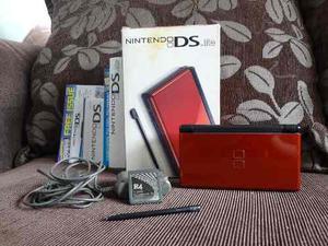 Nintendo Ds Lite + Todos Sus Accesorios