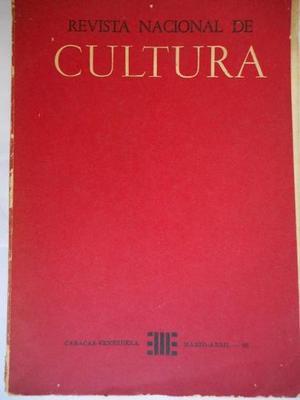 Revista Nacional De Cultura, Marzo Abril .
