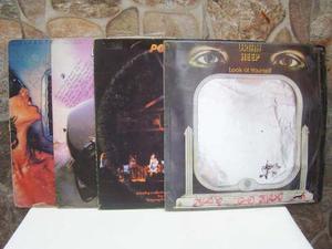 4 Lp De Rock Años 70s Deep Purple Y Uriah Heep