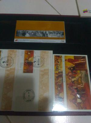 Albumes De Estampillas Del Bicentenario Y Dia Del Ejercito