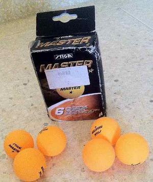 Caja 6 Pelotas Tenis Mesa Ping Pong Stiga Master