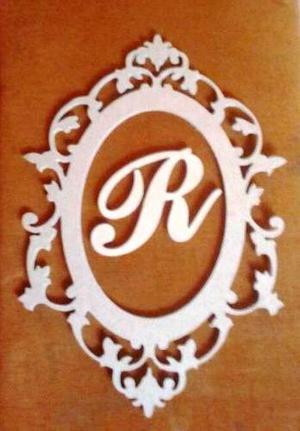 Marco Decorativo De 60cm Con Letra En Mdf Crudo