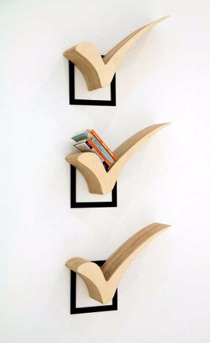 Repisa Biblioteca Minimalista Mueble Libros Decoración
