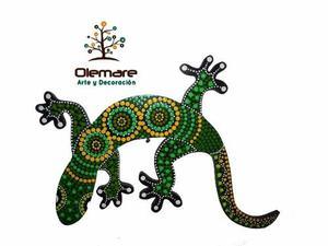 Salamandras Decorativas Con Acabado De Vidrio Hogar