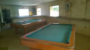 Vendo 2 Mesas De Pool Con Tacos Y Bolas Para Cada Mesa
