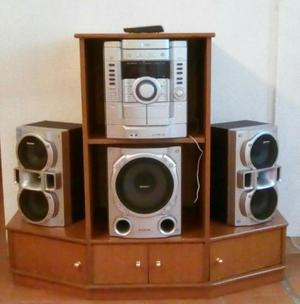 Vendo equipo de sonido Sony con mueble