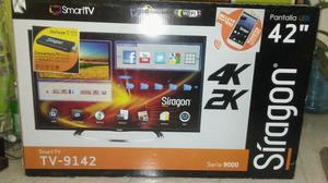 Tv de 42 Pulgadas. Smart Tv. Siragon 4k con Pc Stick