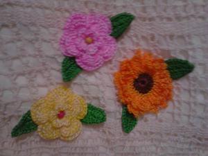 Flores Y Apliques En Crochet