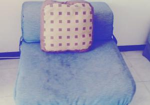 Sofa Cama Individual. Tela Semilona Lavable