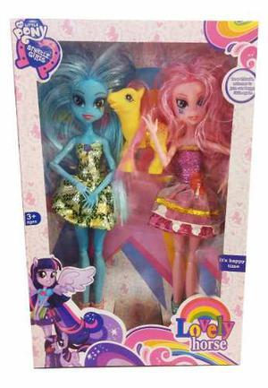 Juguetes My Little Pony 2 Muñecas + 1 Pony Niña Equestria