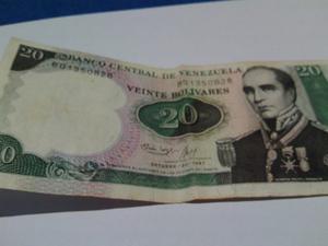 Billete 20 Bolivares