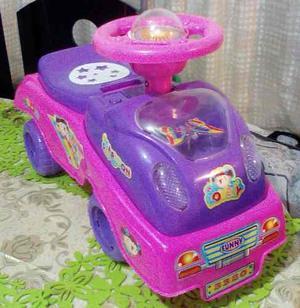 Carro Carrito Montable Con Luces Y Sonidos Para Niñas