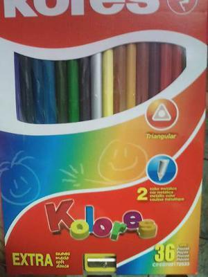 Colores De 36 Unidades Marca Kores