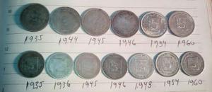 Lrbl. Colección De Monedas De Plata 6 Reales Y 7 Medios