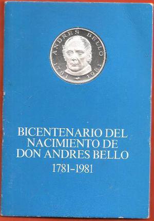 Moneda Conmemorativa Bicentenario De Andres Bello  Plata