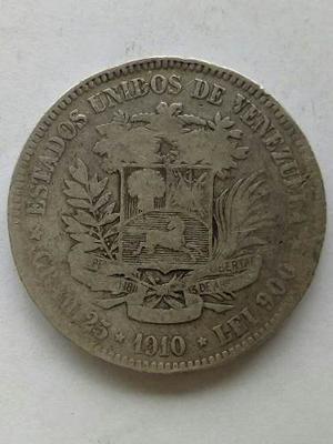 Moneda De Plata 25 Gram Ley  Fuerte 5 Bolívares