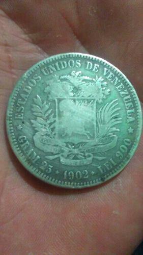 Moneda De Plata De  Venezuela