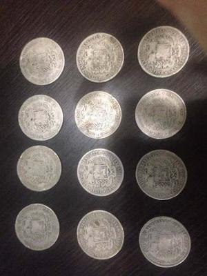 Monedas Venezolanas Plata Lei 900 De