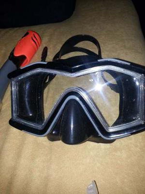 Remate Kit De Buceo Snorkel + Careta Intex Poco Uso Remate