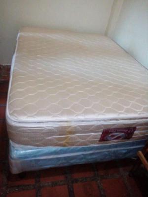 vendo box y colchon doble pillow casi nuevo matrimonial
