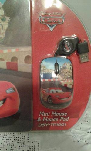 Mini Mouse & Mouse Pad Disney De Cars