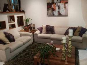 Juego De Recibo Moderno Sofas De 3 Y 2 Puestos