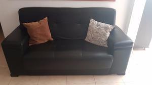 Juego De Sala Moderno En Bipiel Color Negro