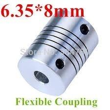 Acople Coupling Flexible De Motor Cnc Impresora 3d 6,35x8mm
