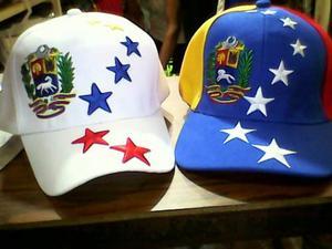 Gorras De Venezuela Tricolor Con Estrellas Y Escudo