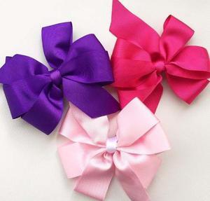 Lazos Grandes De Niña Unicolores Bow