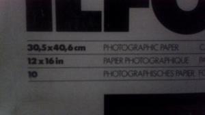 Papel Fotográfico Ilford Caja 10 Und