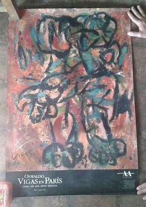 Afiche De Oswaldo Vigas -firmado Por El Artista-