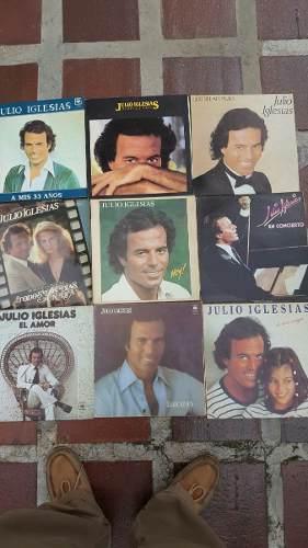 Grupo De 9 Discos De Acetato 33rpm Julio Iglesias