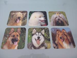 Porta Vasos / Razas Caninas / Juego 6 Unidades /