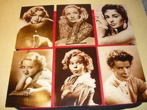 6 Antiguas Postales De Correo Con Fotos De Actrices Famosas.