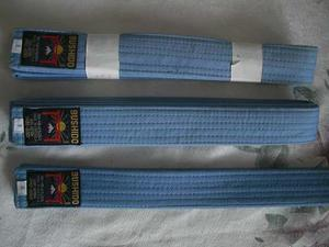Cintas De Karate Azul Celeste Marca Bushido
