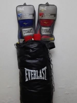 Combo De Entrenamiento Para Boxeo Marca Everlast