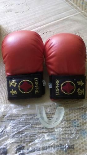 Guantes De Karate Lopfre Original Con Protector Bucal