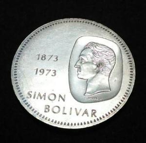 Moneda 10 Bs De Plata (doblon)  Ley 900