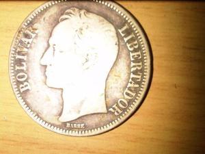 Moneda Venezolana Un Fuerte Plata 900, Gram 25