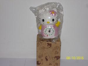 Reloj Despertador De Hello Kitty, Nuevo, De 12 Cm De Alto