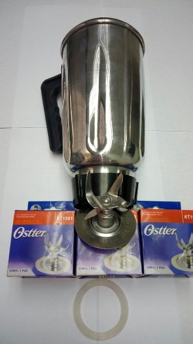 Kit Oster 100% Original Vaso Cuchilla De 6 Aspa Rosca Y Tapa