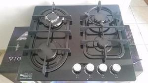 Tope De Cocina A Gas De 60cm Vitroceramico Gplus
