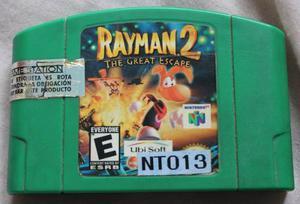 Juego De Nintendo 64. Rayman 2 The Great Scape Con Manual