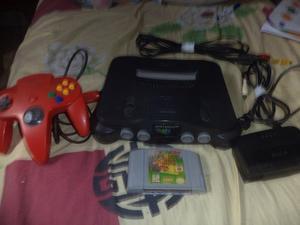 Nintendo 64 Con Juego De Super Mario 64